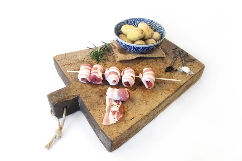 Involtini di pancetta di carne pugliese