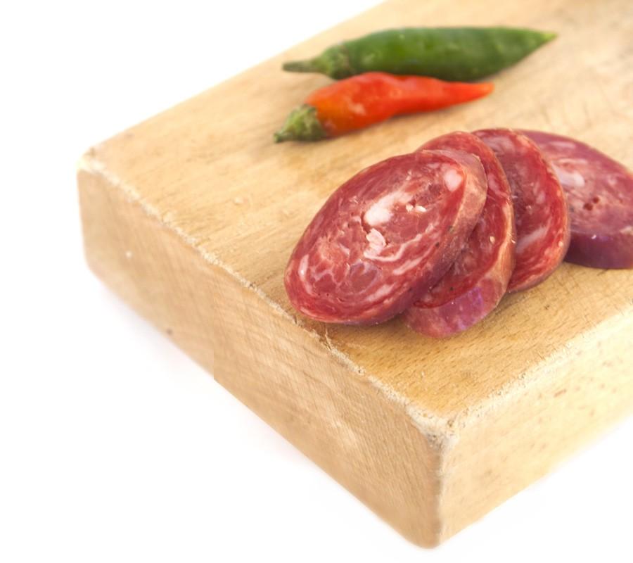 Salame piccante. Produzione Martina Franca
