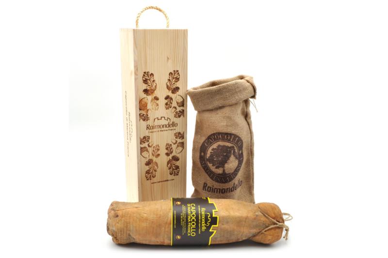 Capocollo di Martina Franca Confezione regalo in legno